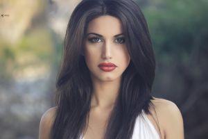 dark hair brunette lips