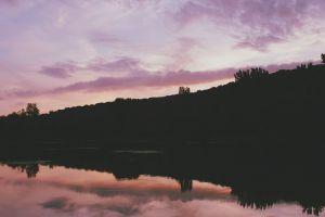 dark landscape nature water