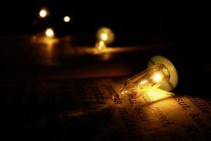 dark lights light bulb technology