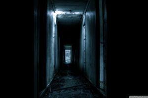 dark ruin abandoned hallway