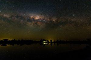 dark stars sky nature night sky
