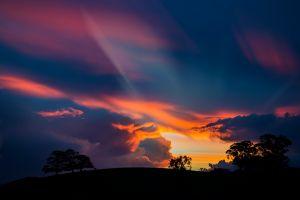 dark sunlight landscape clouds sky nature