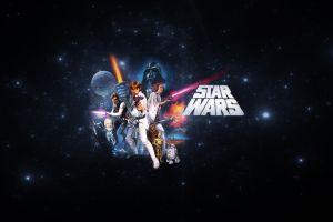 darth vader han solo artwork luke skywalker obi-wan kenobi star wars r2-d2 princess leia movies chewbacca