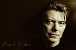 david bowie looking at viewer musician monochrome