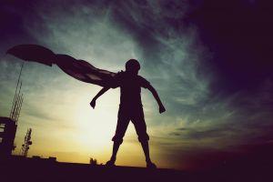 dc comics clouds sunset photography hero superhero 500px cape silhouette superman