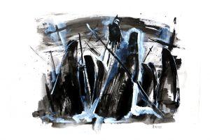 death painting scythe