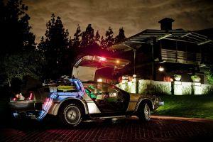 delorean car back to the future