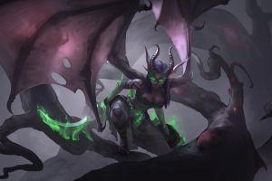 demon hunter fantasy art video games demoness world of warcraft