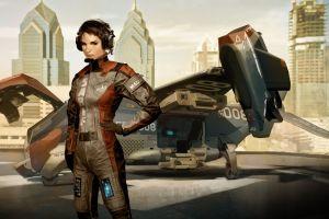 deus ex: human revolution faridah malik cyberpunk futuristic