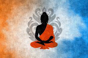 digital art buddha silhouette lotus buddhism