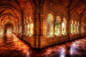 digital art castle window arch