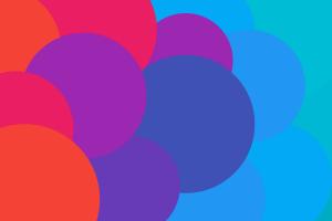 digital art circle colorful pattern
