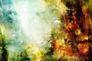 digital art colorful shapes