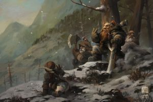 digital art fantasy art dwarfs