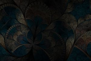 digital art fractal flowers abstract dark fractal