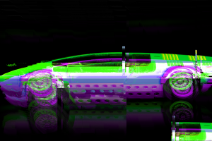 digital art glitch art car