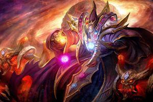 digital art invoker wizard dota 2 demon