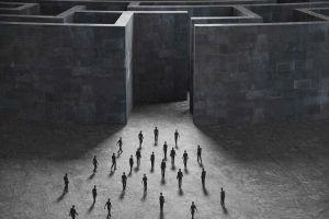 digital art labyrinth artwork