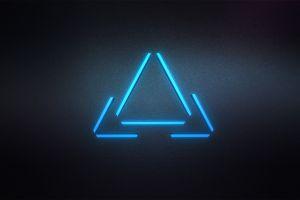digital art minimalism triangle