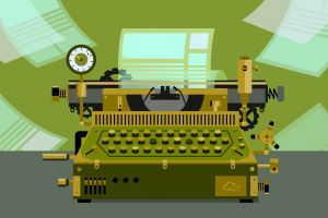 digital art paper typewriters digitalocean
