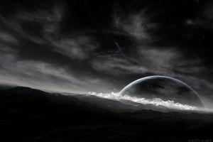 digital art render planet