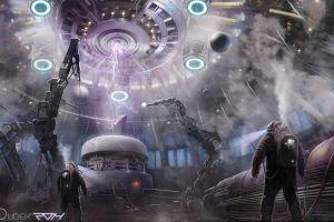 digital art science fiction astronaut