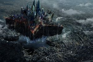 digital art science fiction futuristic city cityscape futuristic
