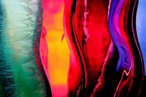 digital art sculpture red waves colorful
