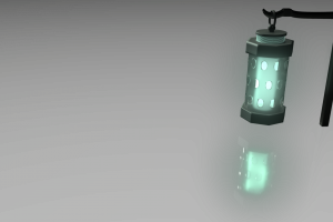 digital art simple background render glowing lantern