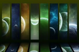 digital art space collage planet space art