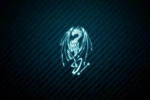 digital art texture abstract dragon blue
