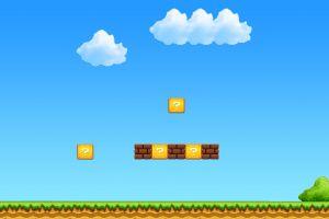 digital art video games video game art simple background super mario