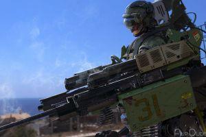 digital art weapon military futuristic artwork soldier render