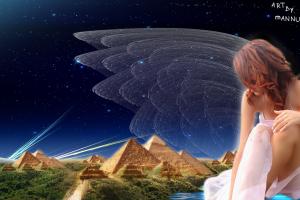 digital art wings women