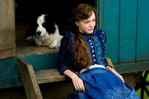 dog actress dress blue dress long hair carey mulligan animals women