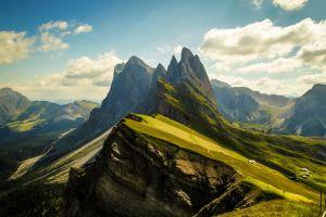 dolomites (mountains) cliff nature landscape mountains