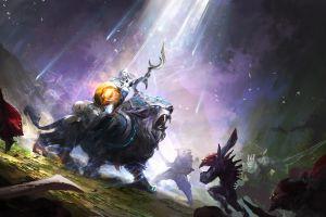 dota 2 creature fighting artwork luna