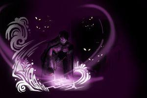 dota 2 minimalism magic lanaya purple templar assassin women