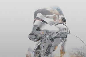double exposure star wars stormtrooper battle of hoth