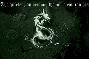 dragon typography quote