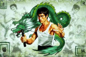 dragon warrior celebrity bruce lee artwork men