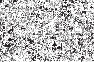 drawing monochrome doodle artwork