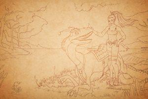 drawing tibia druids pc gaming creature rpg women