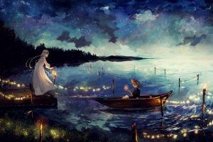 dress boat candles lights stars