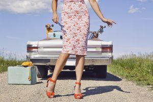 dress car model women