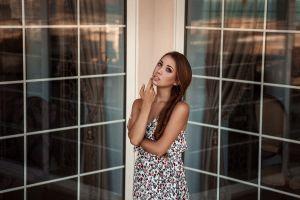 dress model face brunette women