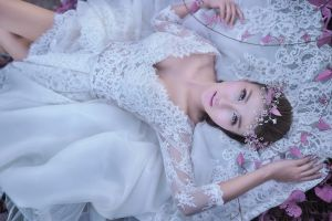 dress women model asian brides