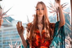 dress women model blonde