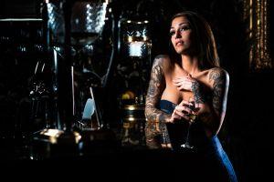 drinking glass bar women model