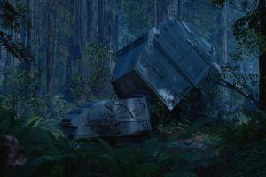 dual monitors video games atat star wars: battlefront star wars battle of endor endor